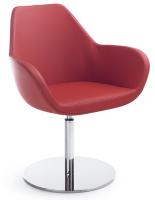 Fan Sessel - Tellerfuß mit Rückholung -...