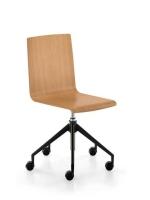 Sedus meet chair 203 - Drehstuhl mit Holzsitz - ungepolster