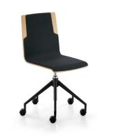 Sedus meet chair 203 - Drehstuh mit Holzsitz - gepolstert