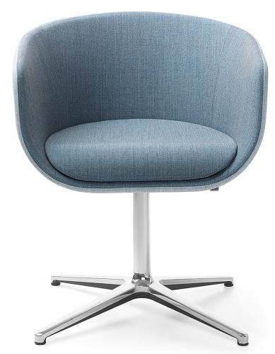 Profim Nu Sessel 20F - kleine Schale - Fußkreuz mit Rückholung - Stoffbezug