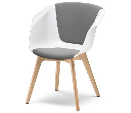 Sedus on spot - us-227 - Besucherstuhl - Sitz- / Rückenlehne gepolstert - 4-Fuß Holzgestell