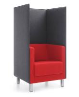 Profim Vancouver Lite Sessel mit Trennwand - 4-beinig