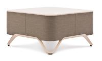 Profim Lounge-Tisch mit Platte Softbox S2 - Stoffbezug