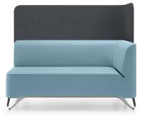 Profim 2-Sitzer-Sofa Softbox 2LW mit Trennwand - Stoffbezug