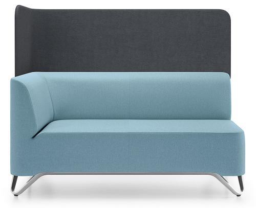 Profim 2-Sitzer-Sofa Softbox 2RW mit Trennwand - Stoffbezug