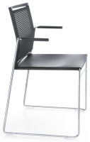 Profim - Ariz - Besucherstuhl - 555V - Sitz Kunststoff - Rücken Netz - stapelbar
