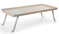 Profim - October - S1 - Tisch - mit Milchglasausschnitt -...