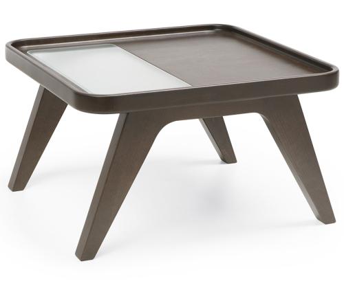 Profim - October - S2 - Tisch - Holzgestell - mit Milchglasausschnitt - Breite 600mm