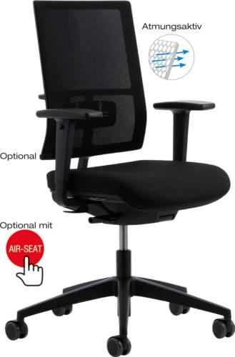Köhl Anteo 5000 Basic Network Bürostuhl Stoff schwarz
