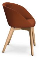 Sedus on spot cosy - uc-227 - Besucherstuhl - Sitz gepolstert - Holzgestell