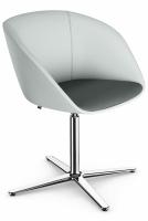Sedus on spot cosy - uc-202 - Drehstuhl mit Gleitern - Sitz gepolstert - Aluminiumfuß