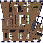 Visualisierung Grundriss Helios Ärztehaus