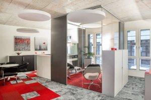 """Glastrennwände für Büro und Objekteinrichtung """"U-Form"""""""