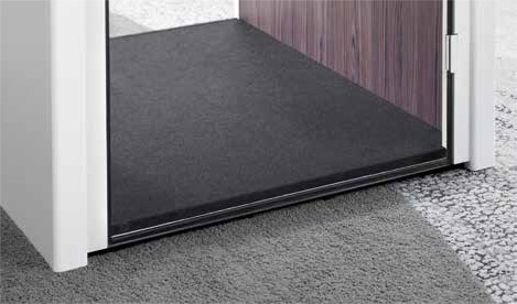 Telefonkabine Fußbodendetail