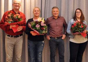 Bildunterschrift: v. l. n. r. Gerd Machmerth, Simone Müller, Horst Steinmetz und Eva Schnackig. (Auf dem Bild fehlt Manuela Merz.)